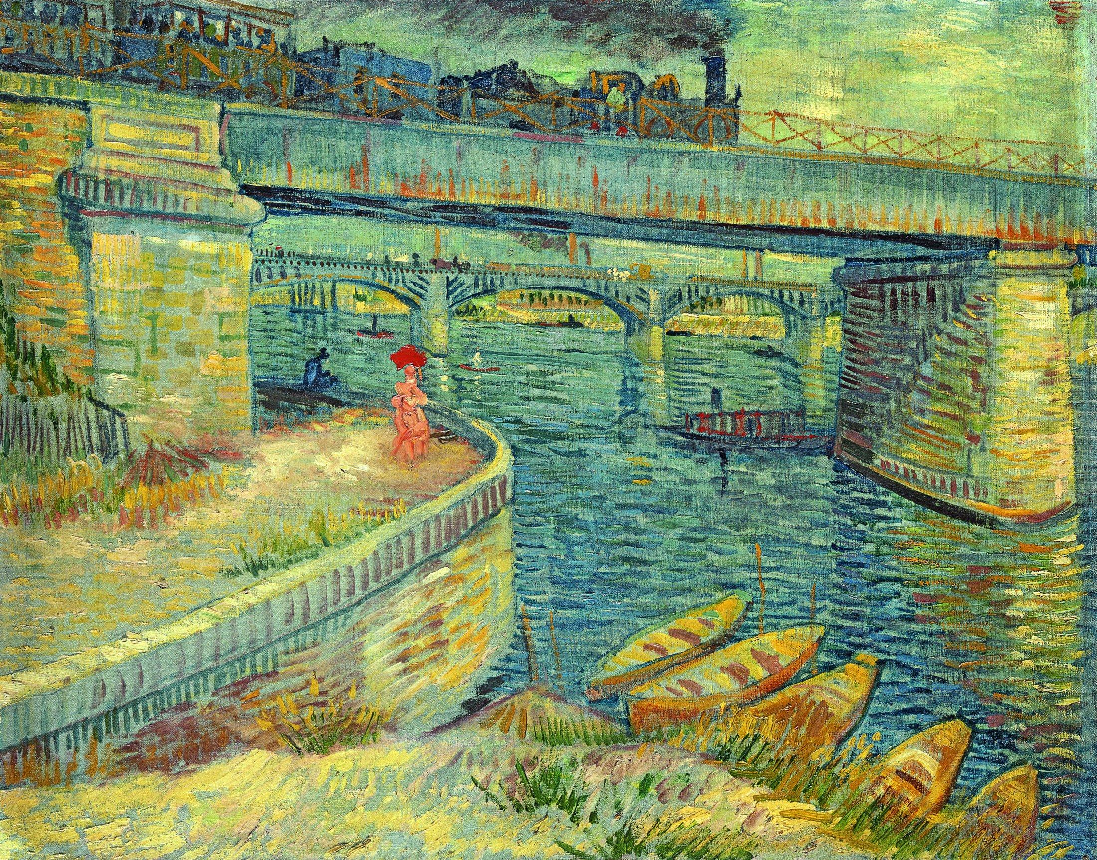 Die Seine-Brücken bei Asnières