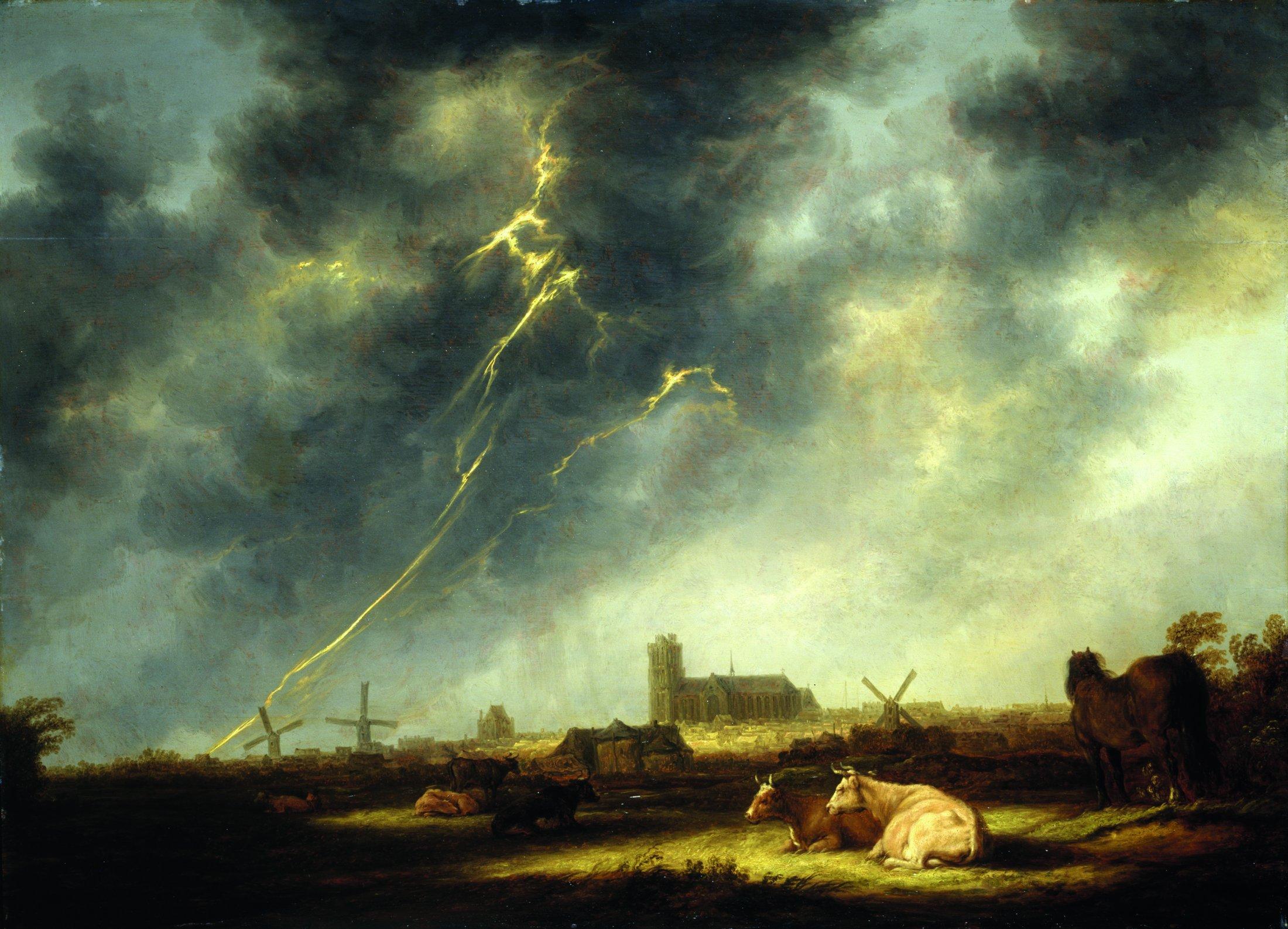 Gewitter über Dordrecht