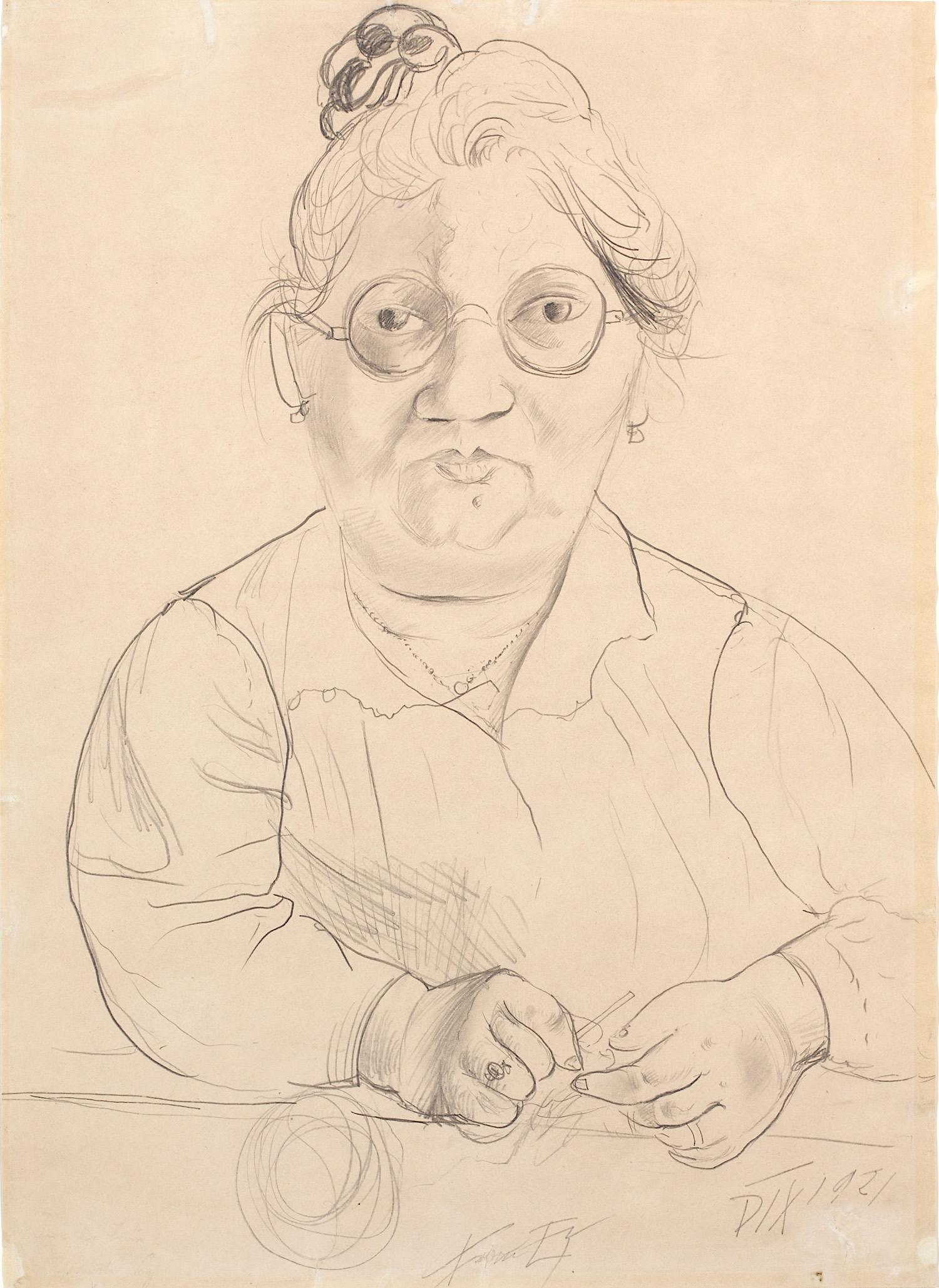 Otto Dix, Bildnis Frau Johanna Ey