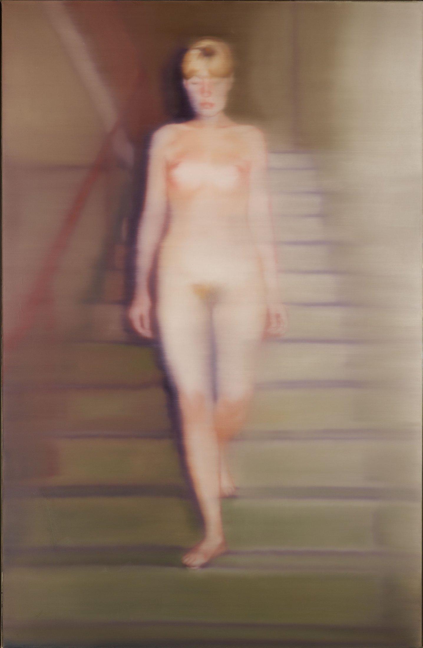 Ema, Akt  auf einer Treppe