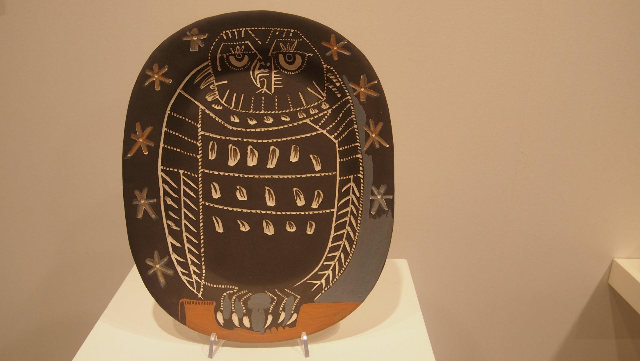 "Pablo Picasso, ""Hibou mat"", 1955"
