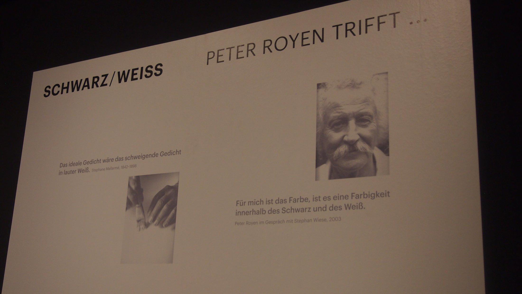 """Peter Royen trifft... """"Schwarz/Weiß"""""""
