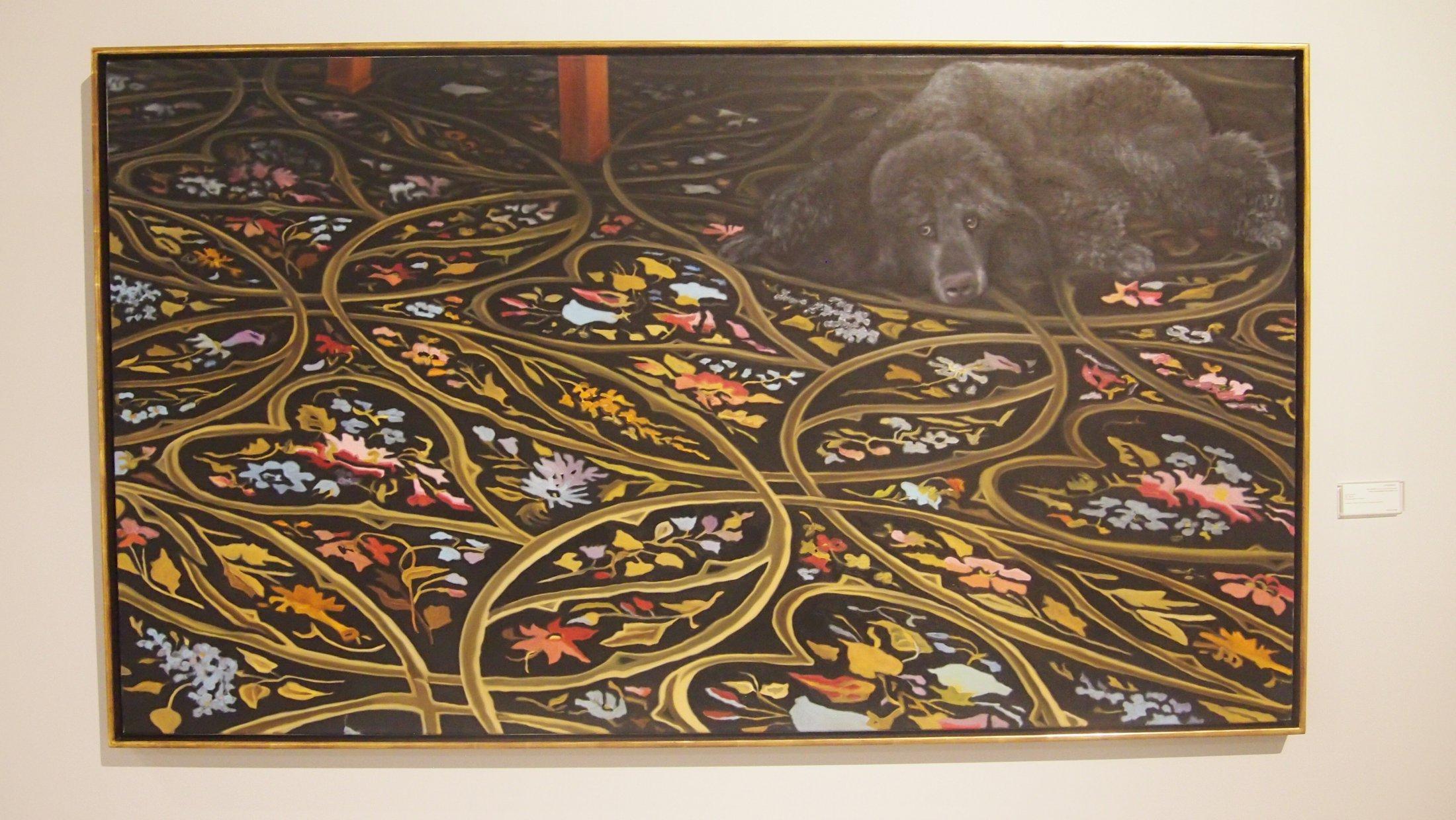 Karin Kneffel, ohne Titel (Interieur mit Hund), 2004