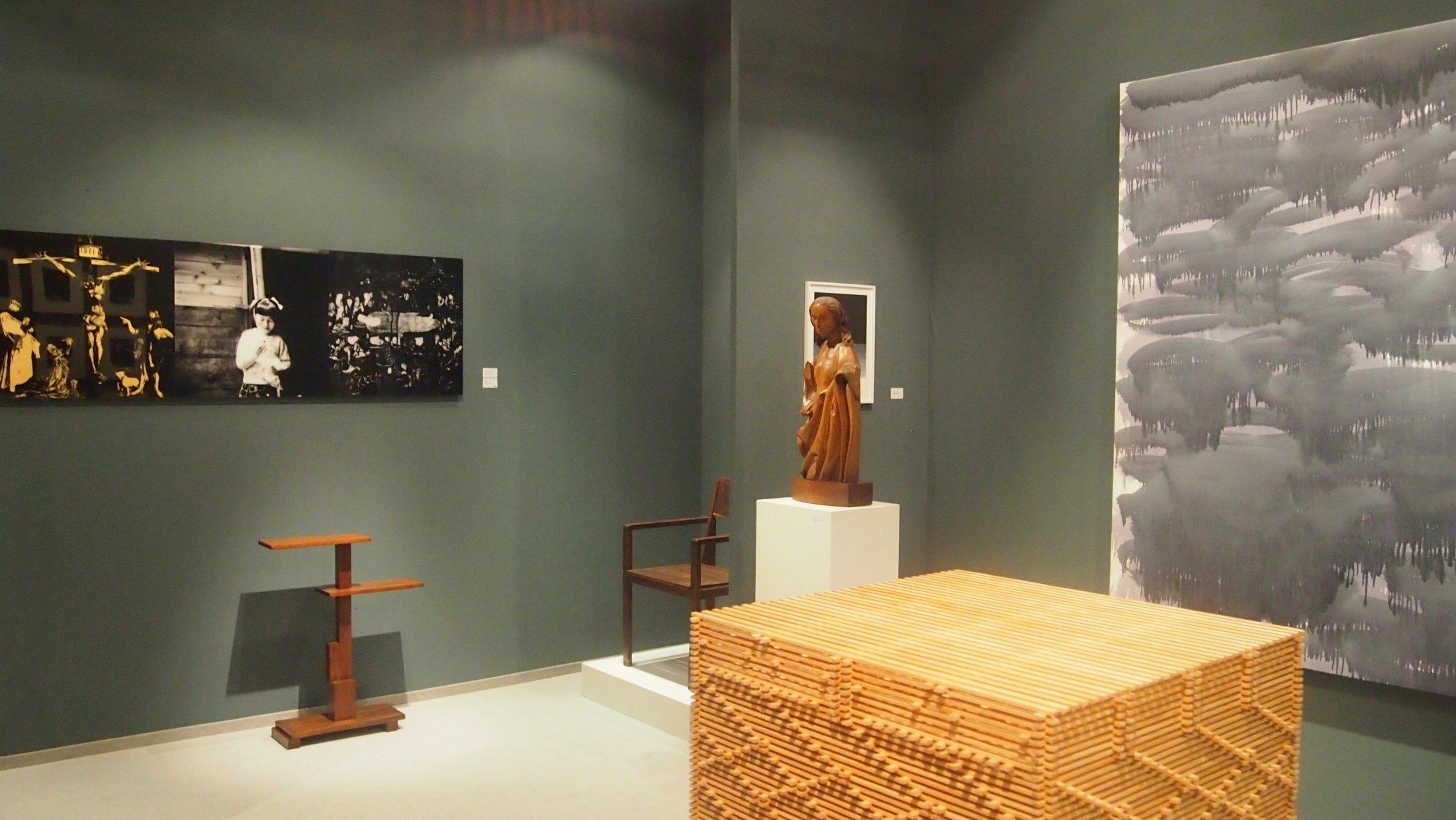 """Galerie Kirbach, unten rechts: """"Leistenquader"""", 1996"""