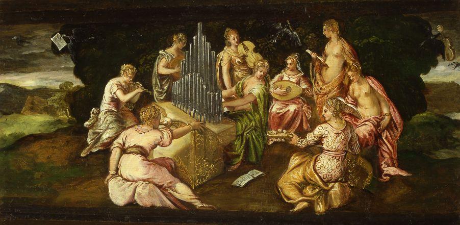 Der Musikwettstreit zwischen Musen und Pieriden