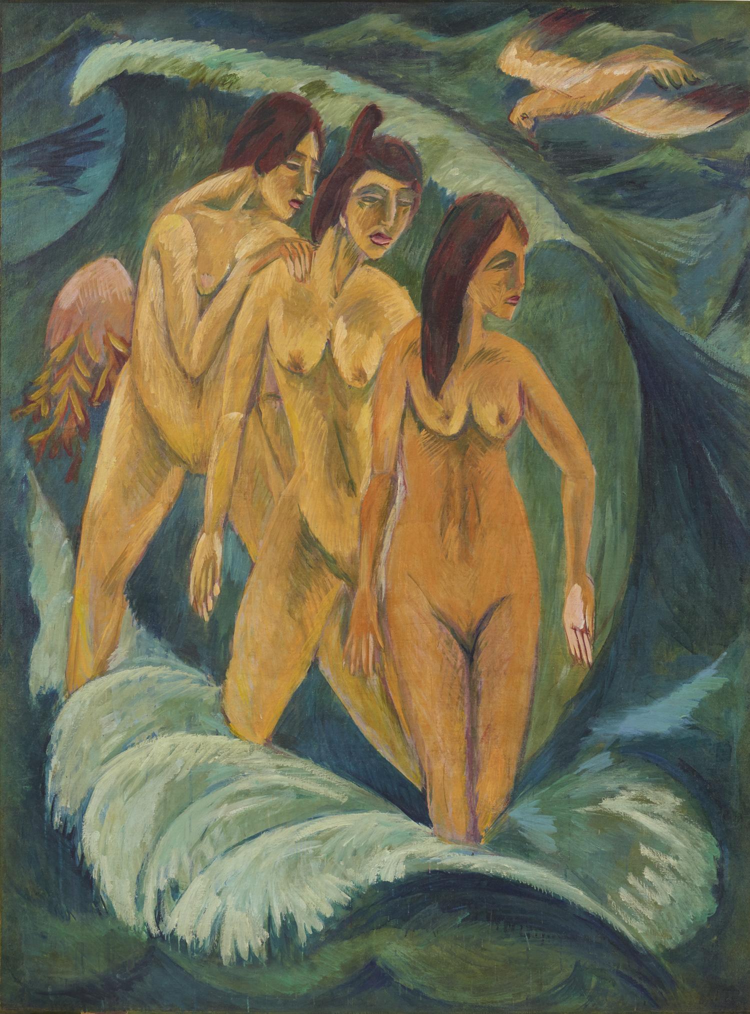 Ernst Ludwig Kirchner, Drei Badende