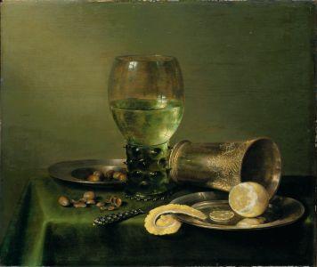 Stilleben mit Glas und Becher