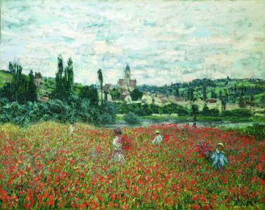 Mohnblumenfeld bei Vétheuil