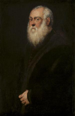 Porträt eines weißbärtigen Mannes