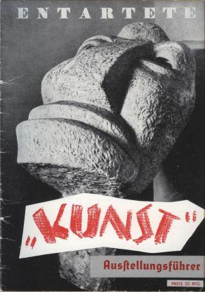 Titelbild des Ausstellungsführers Entartete Kunst