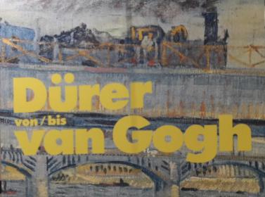 """Teil des Ausstellungsaufstellers """"Von Dürer bis van Gogh"""", Wallraf-Richartz-Museum & Fondation Corboud, Köln, Foto_ kulturklitsche.de.Teil des Ausstellungsaufstellers """"Von Dürer bis van Gogh"""", Wallraf-Richartz-Museum & Fondation Corboud, Köln, Foto_ kulturklitsche.de."""