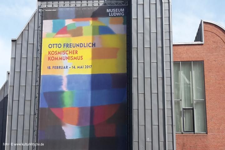 """Foto: ©www.kulturklitsche.de. Ausstellung """"Otto Freundlich: Kosmischer Kommunismus"""", Museum Ludwig, Köln. Der Vortrag """"Otto Freundlich und die Novembergruppe"""" fand im Museum Ludwig statt."""