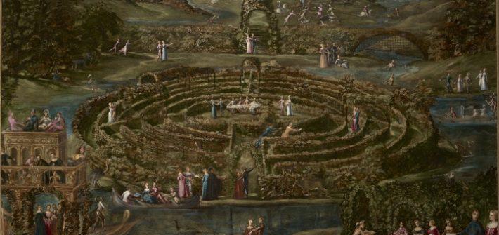 """Sonderausstellung """"A star was born"""", Wallraf-Richartz-Museum Köln; Jacopo Tintoretto, Liebeslabyrinth, um 1538 und um 1552, Öl auf Leinwand, 147 x 200 cm, Royal Collection Trust/© Her Majesty Queen Elizabeth II. Foto: © Her Majesty Queen Elizabeth II"""