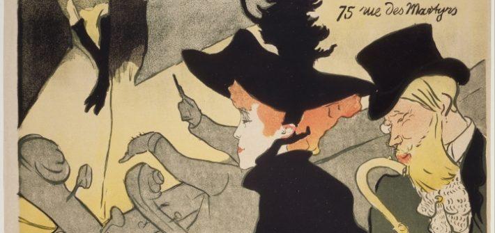"""Henri de Toulouse-Lautrec (1864–1901) Divan Japonais 1892/93 Farblithografie auf Velinpapier 80,7 x 61,4 cm, auch in """"Bestandsaufnahme Gurlitt. Der NS-Kunstraub und die Folgen"""", in der Bundeskunsthalle Bonn bis zum 11.3.2018, Ausstellungsreview Kulturklitsche"""