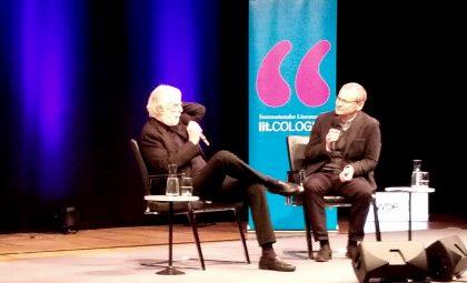 Michael Haneke und Knut Elstermann auf der lit.Cologne 2018. Foto: Copyright Kulturklitsche.de